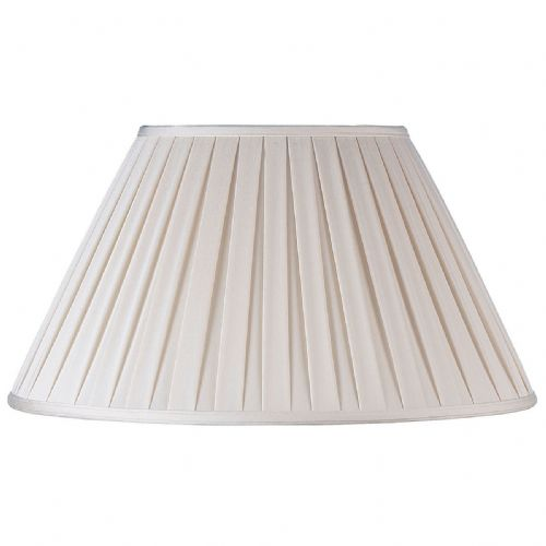 "14"" Beige Box Pleat Shade CARLA-14"